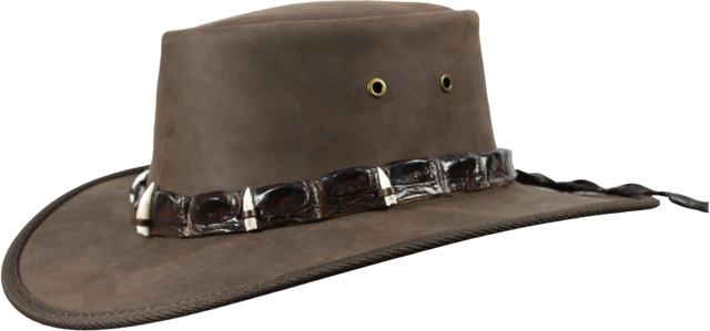 1033 Outback Crocodile - Leather Australian Hat