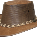 1038 Kangaroo Cooler - Leather Australian Hat